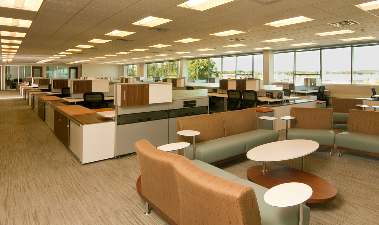 Workplace trends open office vs traditional office plans for Open design furniture